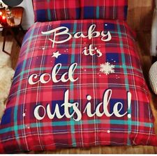 Christmas 2017 Bedding Duvet Cover Bright Colourful Festive Xmas Santa Baby It's Cold Outside - Red Single