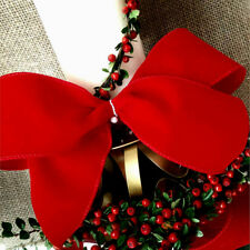 1m  63mm WIRED RED SHOWER PROOF VELVET CHRISTMAS RIBBON,FLORIST,GIFT,TREE BOWS