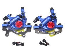 Bicicleta De Montaña Bicicleta de carretera FR Calibradores hidráulico de frenos de disco delantero trasero mecánico Tire Azul