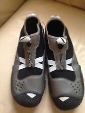 TEVA Women's Proton Water Shoes Mesh Slip On Neoprene Size 8 Gray/Grey and Black