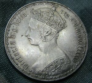 1884 Victoria Gothic Florin Extremely Fine.