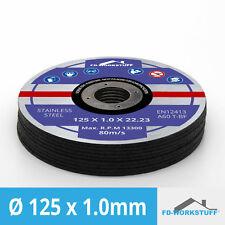 30 Trennscheiben Ø 125 mm x 1 mm für Winkelschleifer Stahl Edelstahl Flexscheibe
