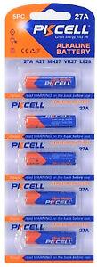 ☀️☀️☀️☀️☀️ 5 x 27A 12V MN27, A27, V27GA, L828, GP27A( 1 Cards a 5 Batterien)PK