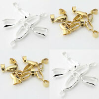 Lots Alloy Bails Charm Pendants Jewelry Findings Pinch Connectors 14 18 20 26mm