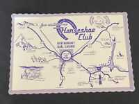 Vintage Restaurant Paper Place Mat Joe W Binion's Horseshoe Club Las Vegas NV
