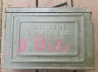 Original WWII WW2 US Military Issue M1 30. Ammo Box Can
