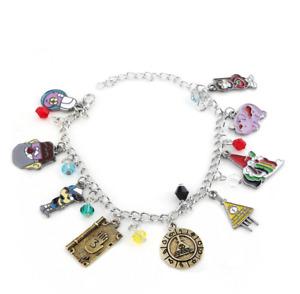 Gravity Falls Bill Cipher Charm Bracelet Metal Bracelets Girl Fashion Jewelry