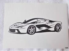 A4 Bolígrafo Marcador De Arte Dibujo Coche Ferrari LaFerrari exhiben Cartel