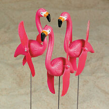 Twirling Flamingo Yard Signs - Outdoor Home Decor - 6 Pieces - 7 1/2