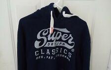 Men's Superdry JPN Indigo Edition Dark Blue Pull Over Hoodie Sweatshirt L