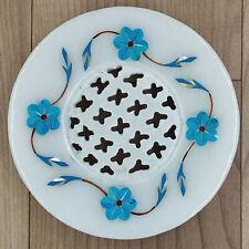 Soap tray Stone shop Dish Natural Turquoise gemstone inlay work shop holder