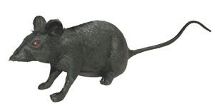 """1 RUBBER RAT Mouse Black Fake Cat Toy Halloween Prop 4.5"""" Tail Joke Prank Gag"""
