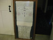 C 1820-1830 Framed Show Towel With Hand Crotched Bottom And Needlework Top