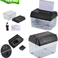 Portable USB Electric Paper Shredder Home Office Desktop Small Gadget PC W2N3