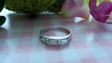 Beautiful White CZs Wedding Engagement Ring Real 925 Sterling Silver *Size 8*E08