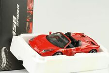 2011 Ferrari 458 Italia Spider rouge 1:18 Hot Wheels Elite