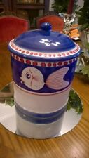 New Listing - Vietri Solimene Fish Canister Cookie Jar  Italy
