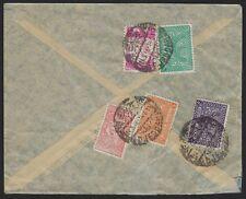 Saudi Arabien 1948 Djeddah Luft Post Abdeckung Frankierte W / Tughra Ausgabe &