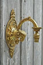 Superb Victorian style solid brass rams head wall light sconce lamp