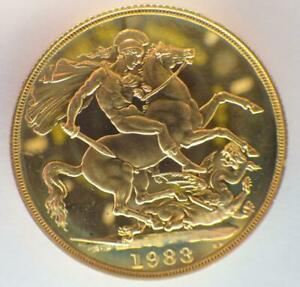 1983 2 Pound Gold Double Sovereign - Elizabeth II Decimal head - Proof No box