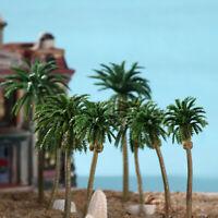 15pcs Multi Gauge Model Trees Coconut Palm Trees Scale Scenery Home Decor Green