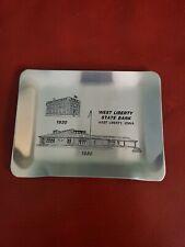 West Liberty State Bank Iowa 60 Years - Aluminum Tray
