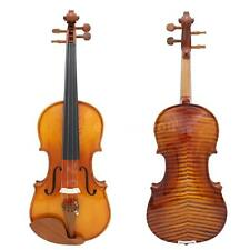 NEW Full Size 4/4 Spruce Wooden Violin Fiddle & Bow Birthday Gift for Child D5W7
