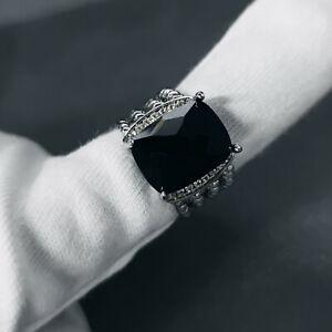 David Yurman Sterling Silver Black Onyx Wheaton Ring Size 7