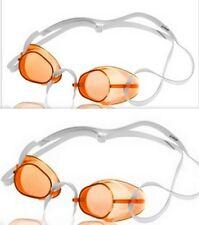 2 Pack - Sporti Swedish Swim Goggles- Antifog - latex strap - Color AMBER