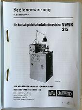 Bedienungsanleitung Kreissägeblattschleifmaschine WMW Werkö SWSK 315