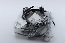 Alice Band / Hair Band Black & White Checked Bow (asda) Wholesale (Joblot x 10)