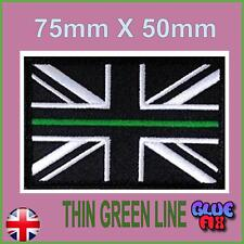 Thin Green Line Ambulance Service Union Jack Velcro® backed patch UK