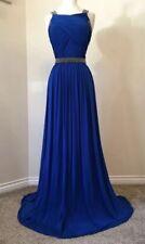 COAST Cobalt Blue Embellished Grecian Maxi Dress Size 10 Evening long