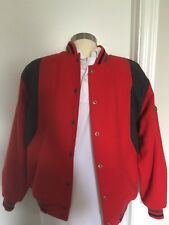 100% WOOL New with Tags Varsity red RIO Wool jacket Unique size.Unisex