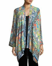 JOHNY WAS SIZE SMALL CHALLIS DRAPED FRAME KIMONO JACKET CARDIGAN S may fit M L