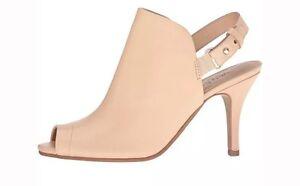 Vaneli Poppy Nude Nappa Toe Leather Women's Slingback Size-10M-New-$140