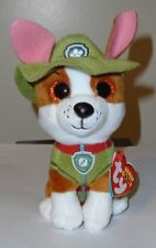 """Ty Beanie Boos - TRACKER the 6"""" Nickelodeon Paw Patrol Dog ~ NEW w/ Tags IN HAND"""