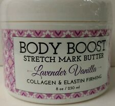 BASQ Body Boost Stretch Mark Butter  LAVENDER VANILLA 8 oz **2 pack**