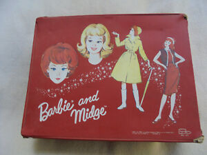 BARBIE AND MIDGE VINTAGE COLLECTIBLE 1964 MATTEL CARRYING CASE