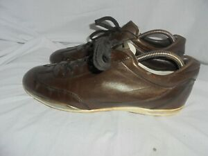 TOD'S PROJECT MEN BROWN LEATHER LACE UP TRAINERS SIZE UK 9 EU 43 VGC