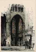 BRUXELLES - Luigi KASIMIR - BRÜSSEL  St GUDULE - 1915 - OriginalLithographie
