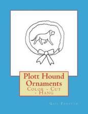 Plott Hound Ornaments: Color - Cut - Hang