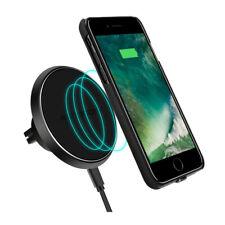 Handy Halterung Halter Auto KFZ induktives Laden Qi wireless Lüftung Car Magnet