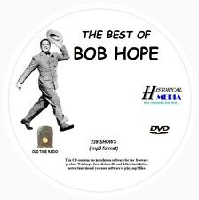 BEST OF BOB HOPE - 239 Shows Old Time Radio In MP3 Format OTR On 1 DVD