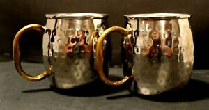 Godinger Moscow Mule Mug Hammered Copper With Steel Coating + Brass - 18 fl oz