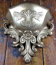 Vintage Homco Home Interior & Gifts Fleur De Lis Antique Gold Wall Decor Planter