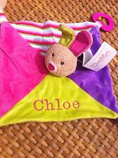 Personalised Baby Blankie Comforter. New Baby Gift.Girls Plush Toy From Birth