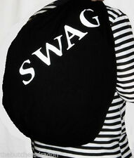 Burglars Giant Swag Bag Convict Thief Fancy Dress UK Black Robbers Sack