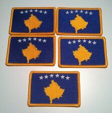 5 KOSOVO Flag Iron-On Patch MILITARY Emblem Embroidery