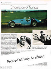 vintage LOUIS ROSIER F1 Formula One Grand Prix Racing Article/Picture/Photo